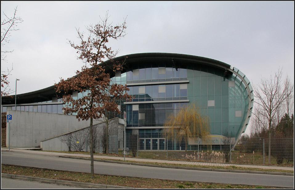 Wintergarten Reutlingen gläserne welle blick auf die südfassade diese verwaltungsgebäudes