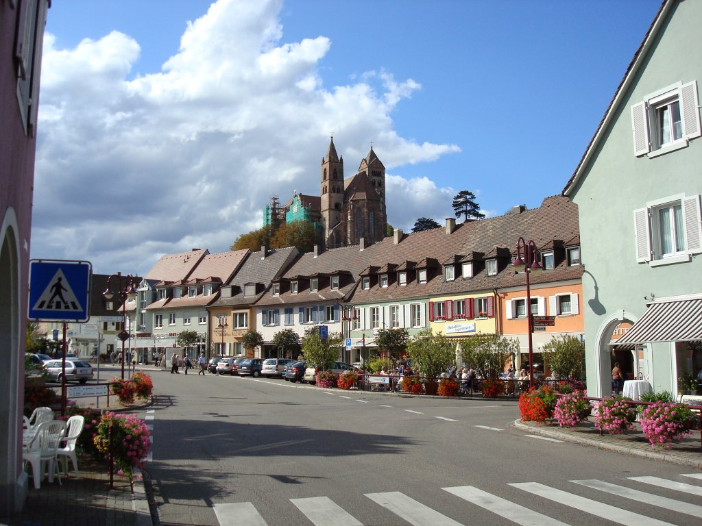 breisach am rhein blick ber den markt zum m nster staedte. Black Bedroom Furniture Sets. Home Design Ideas