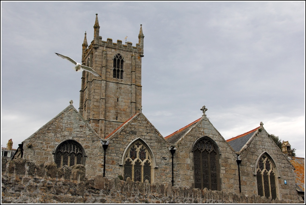 Die St. Ia's Church in St. Ives. 02.06.2012