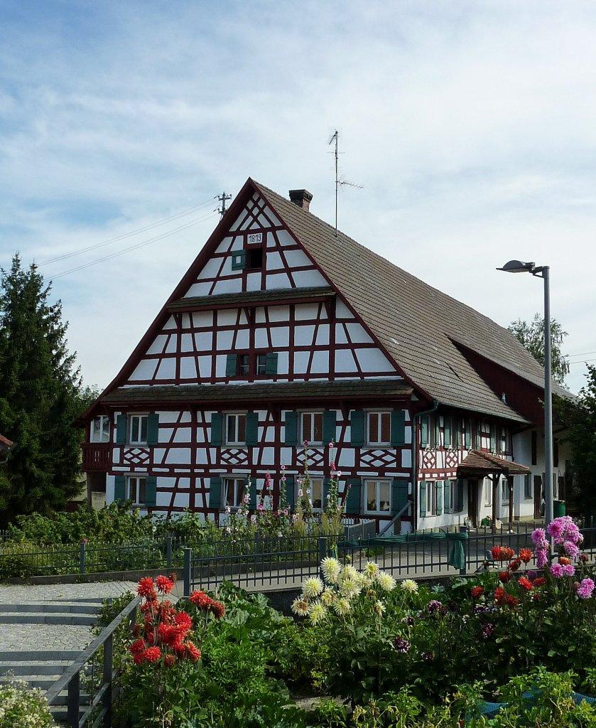 Schemmerhofen blick in die wallfahrtskirche mit for Fachwerkbauten deutschland