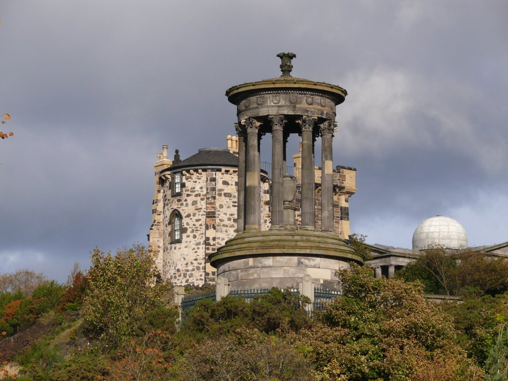Edinburgh am 19.10.2010, Calton Hill mit City Observatory