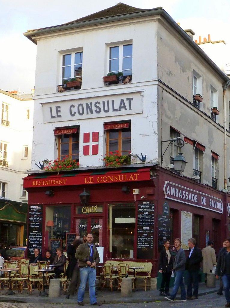 Frankreich paris 18e montmartre restaurant le consulat for Restaurant le miroir montmartre