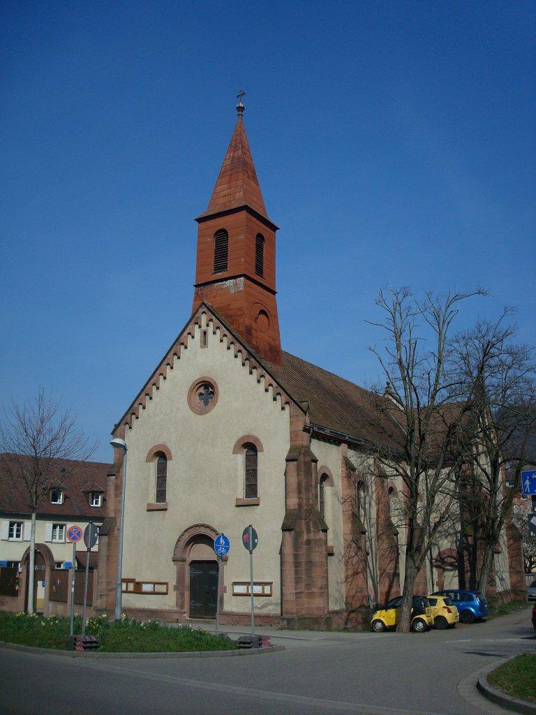 freiburg wiehre die maria schutz kirche wurde 1885 89 erbaut sie dient heute den orthdoxen. Black Bedroom Furniture Sets. Home Design Ideas