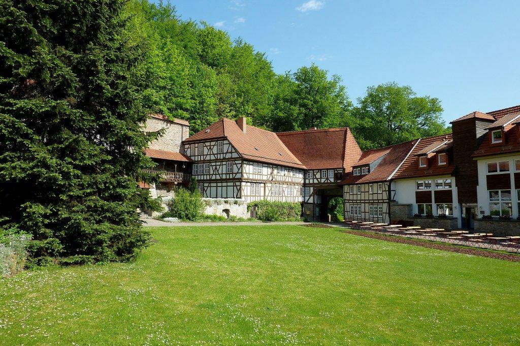 Kloster zella au enansicht 1810 aufgel st heute for Fachwerkbauten deutschland