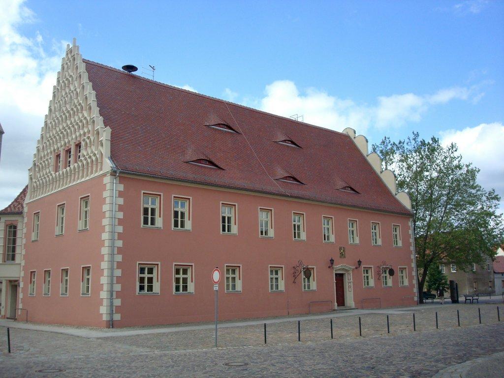 m hlberg rechts der elbe geh rt zum land brandenburg das rathaus im historischen stadtkern. Black Bedroom Furniture Sets. Home Design Ideas