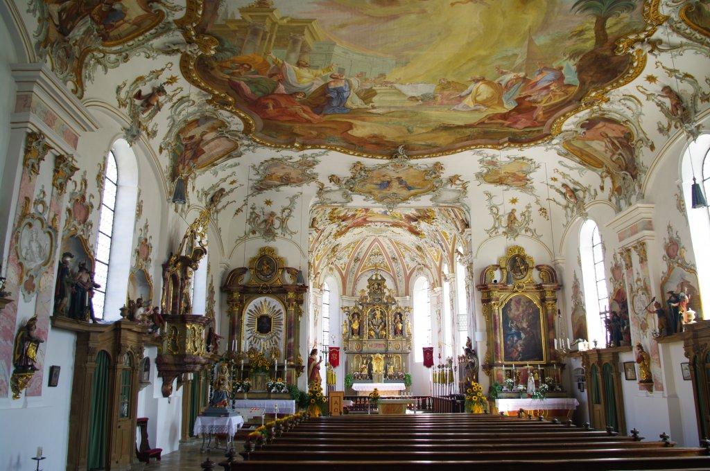 Mussenhausen rokoko innenausstattung von 1756 der wallfahrtskirche