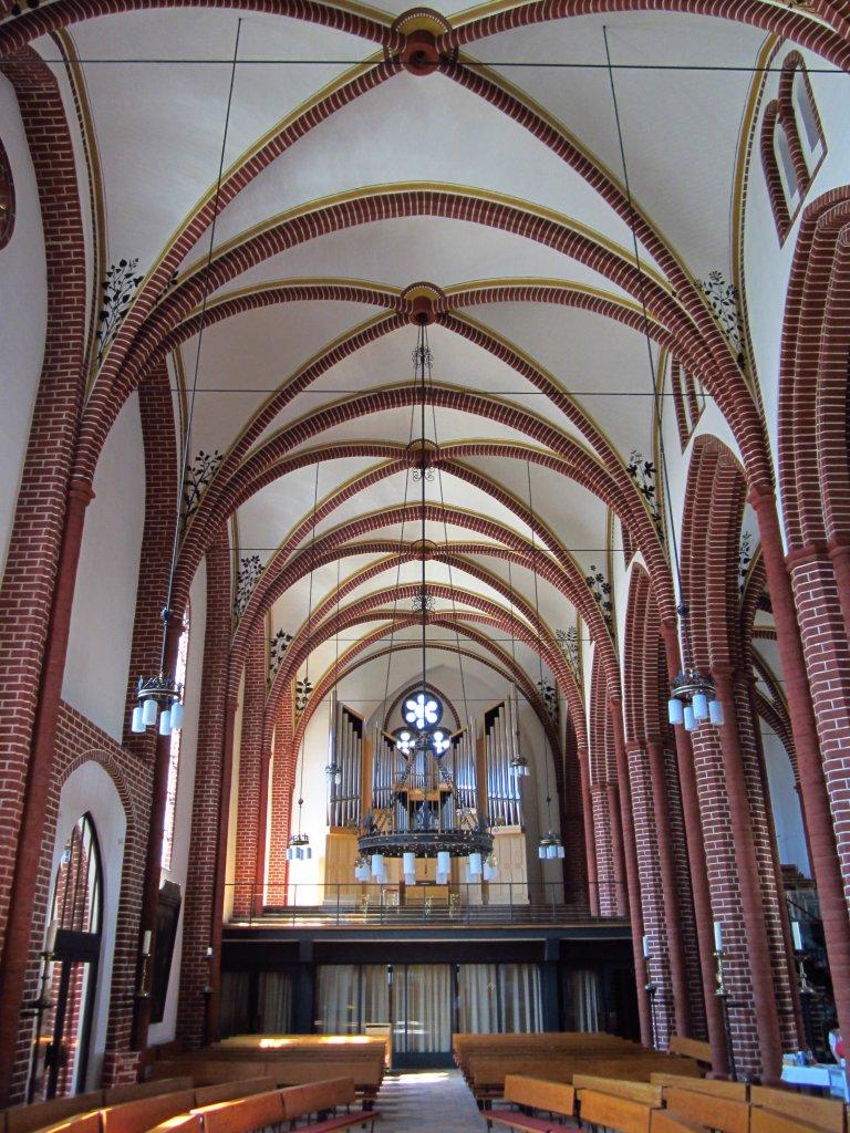 Basedow dorfkirche orgelempore barockorgel vom orgelbaumeister