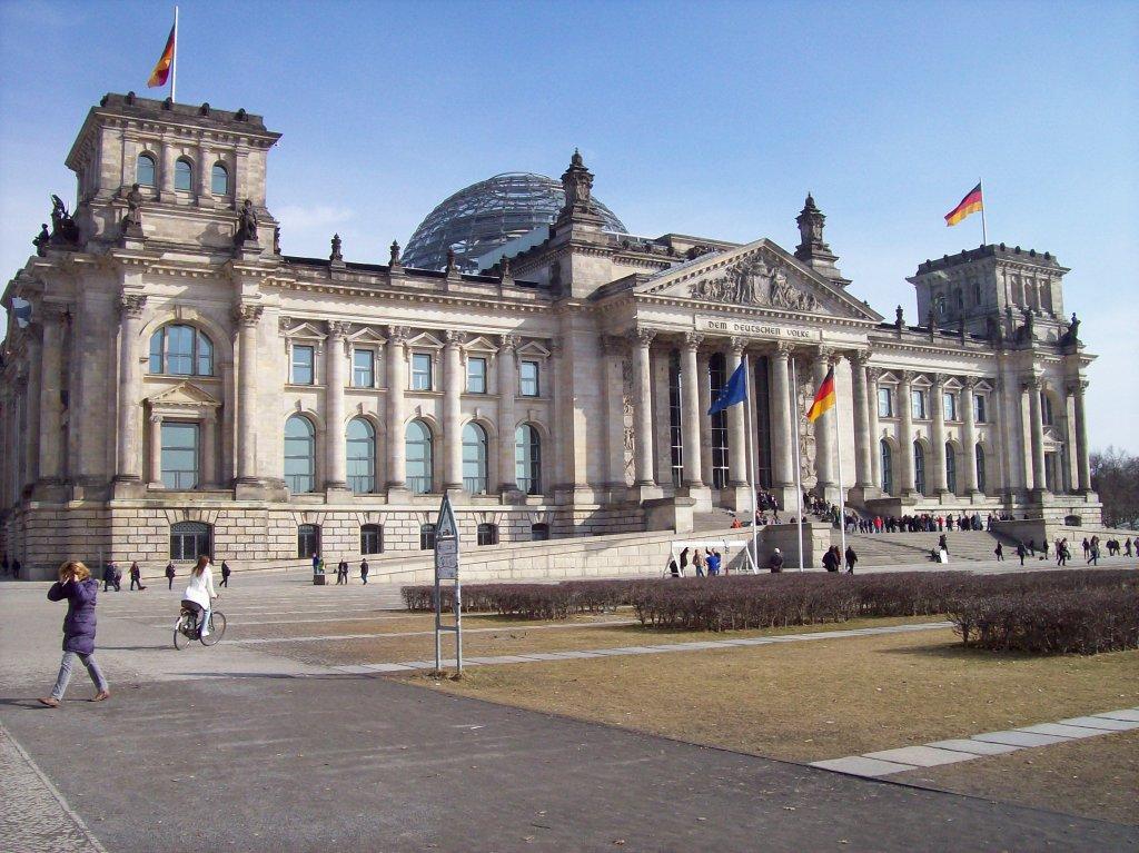 Reichstagsgebäude, 1884-94 von Paul Wallot erbaut, 1933 ...  Reichstagsgebä...