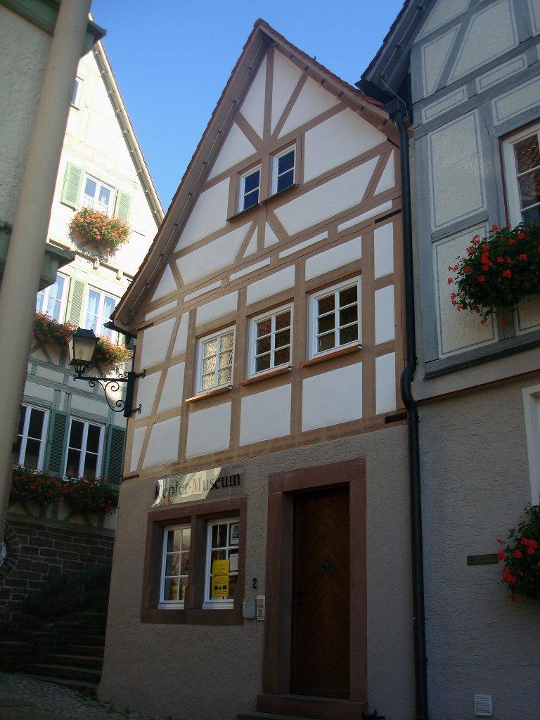 weil der stadt das kepler haus hier wurde 1571 der gro e astronom und mathematiker johannes. Black Bedroom Furniture Sets. Home Design Ideas