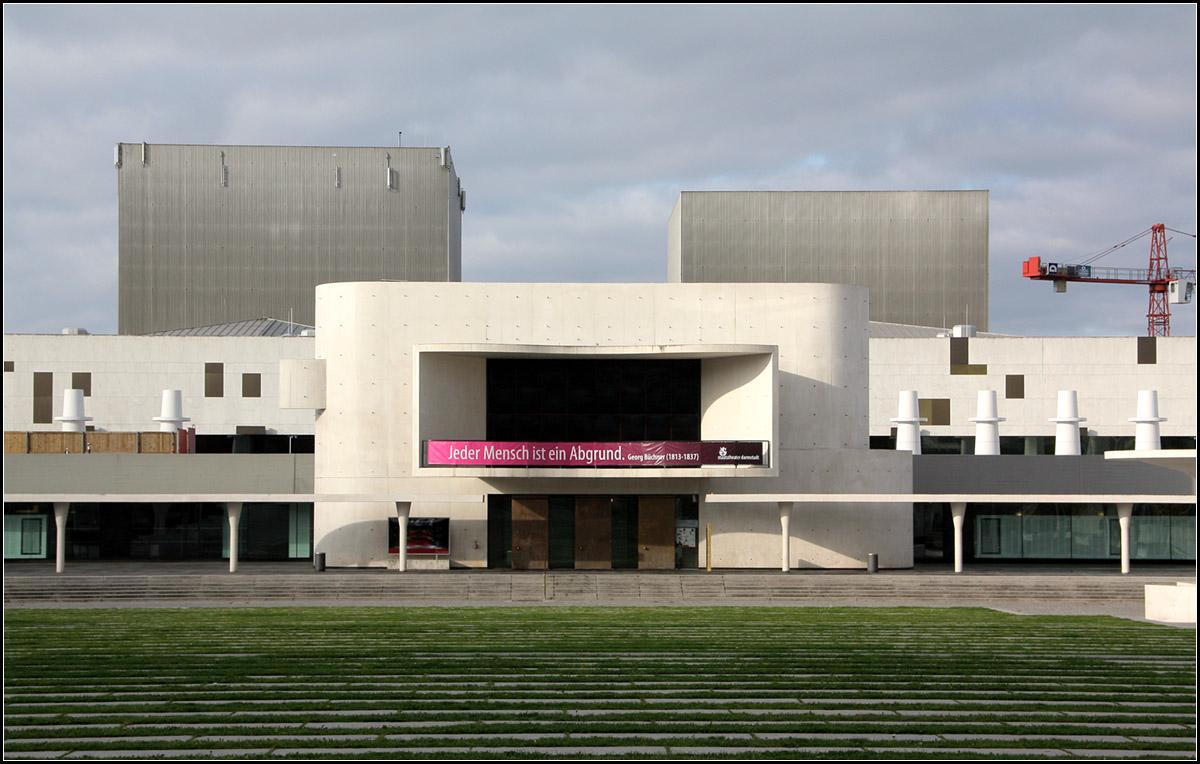 staatstheater darmstadt das gro e theaterbauwerk in darmstadt wurde 1972 nach pl ne. Black Bedroom Furniture Sets. Home Design Ideas