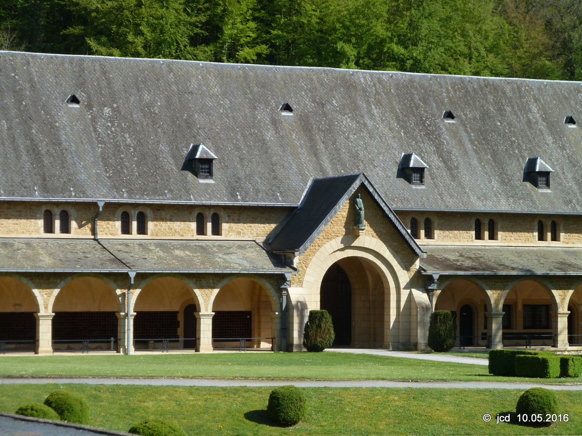 Abtei Notre-Dame d'Orval in Villers-devant-Orval am 08.05.2016