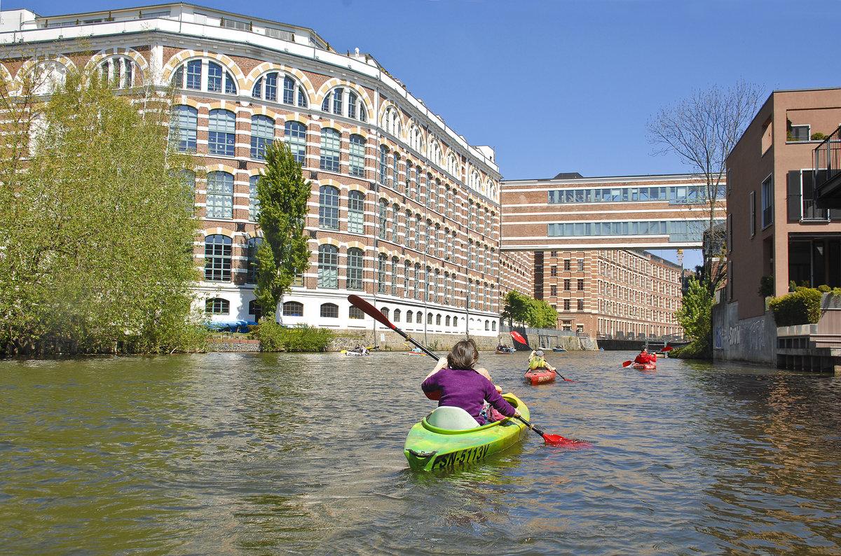 Das Apartments House Elster Lofts an der Weißen Elster in Leipzig ...