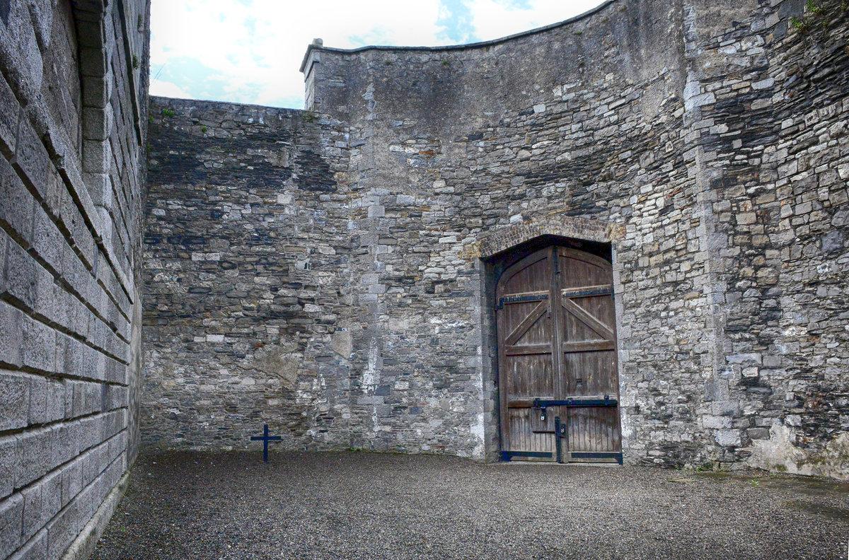 Das ehemalige Gefängnis Kilmainham Gaol in Dublin. Das Gefängnis ...