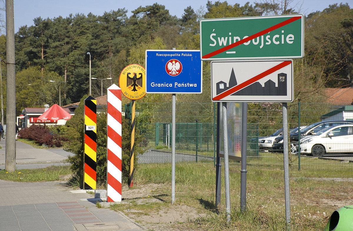 Die deutsch-polnische Grenze an der Wojska Polskiego