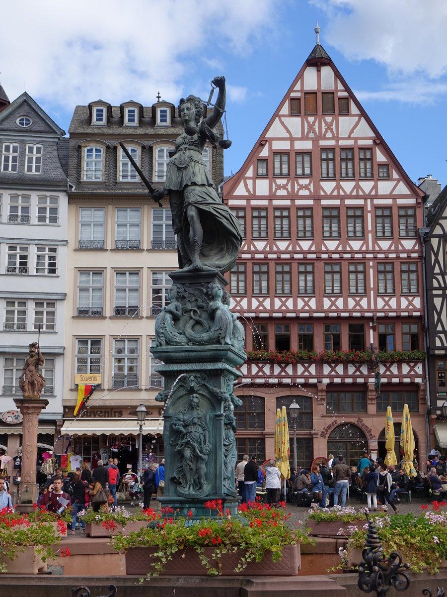 Frankfurt Gerechtigkeitsbrunnen Am R Merberg Erbaut 1611 Staedte