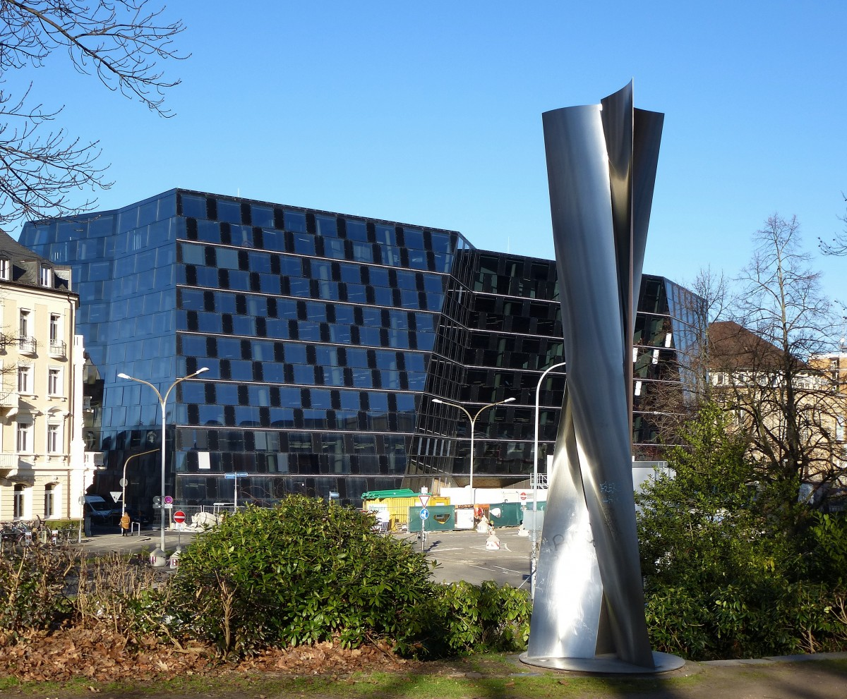 freiburg die neue universit tsbibliothek innbetriebnahme im juli 2015 gesehen vom mensa park. Black Bedroom Furniture Sets. Home Design Ideas