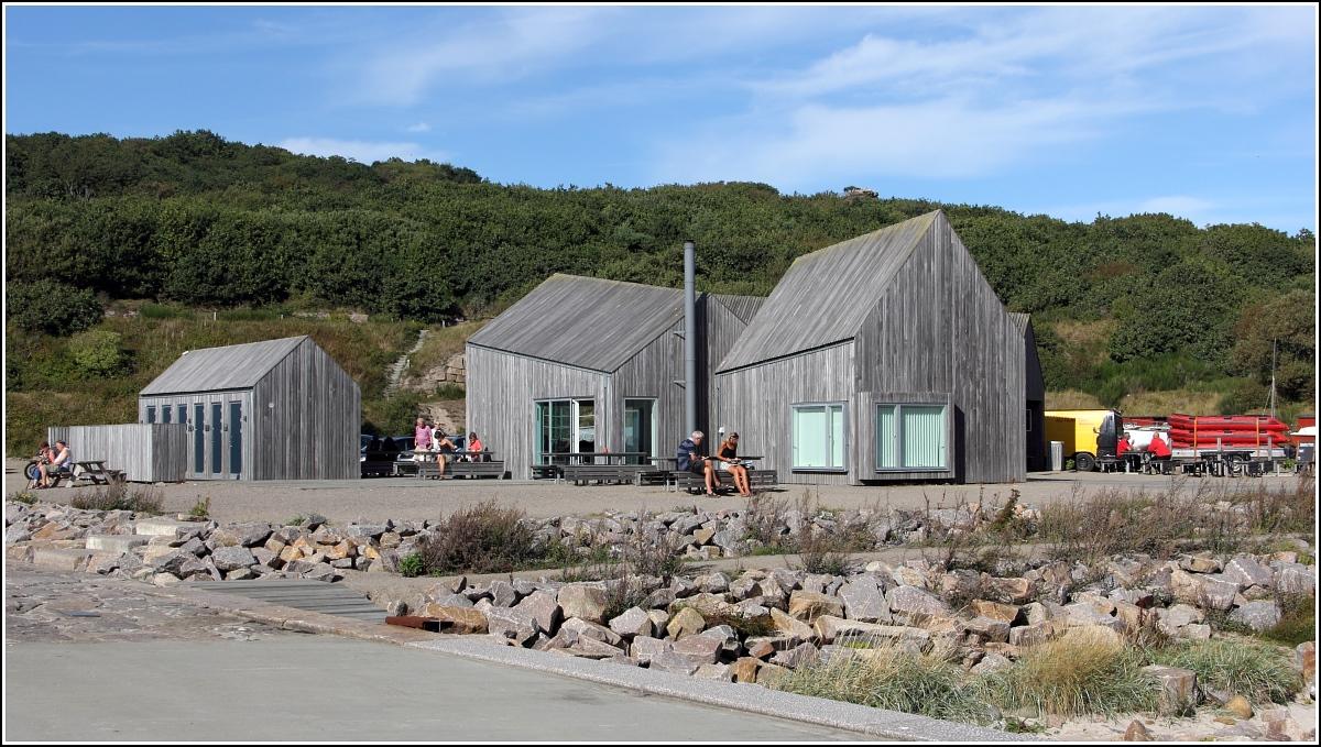 Moderne holzarchitektur  Hammerhavnen. Moderne Holzarchitektur wurde für die Sanitär- und ...