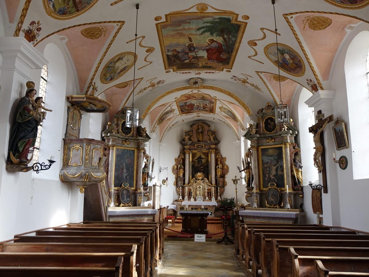 Tuntenhausen, Innnenraum der Maria Himmelfahrt Kirche