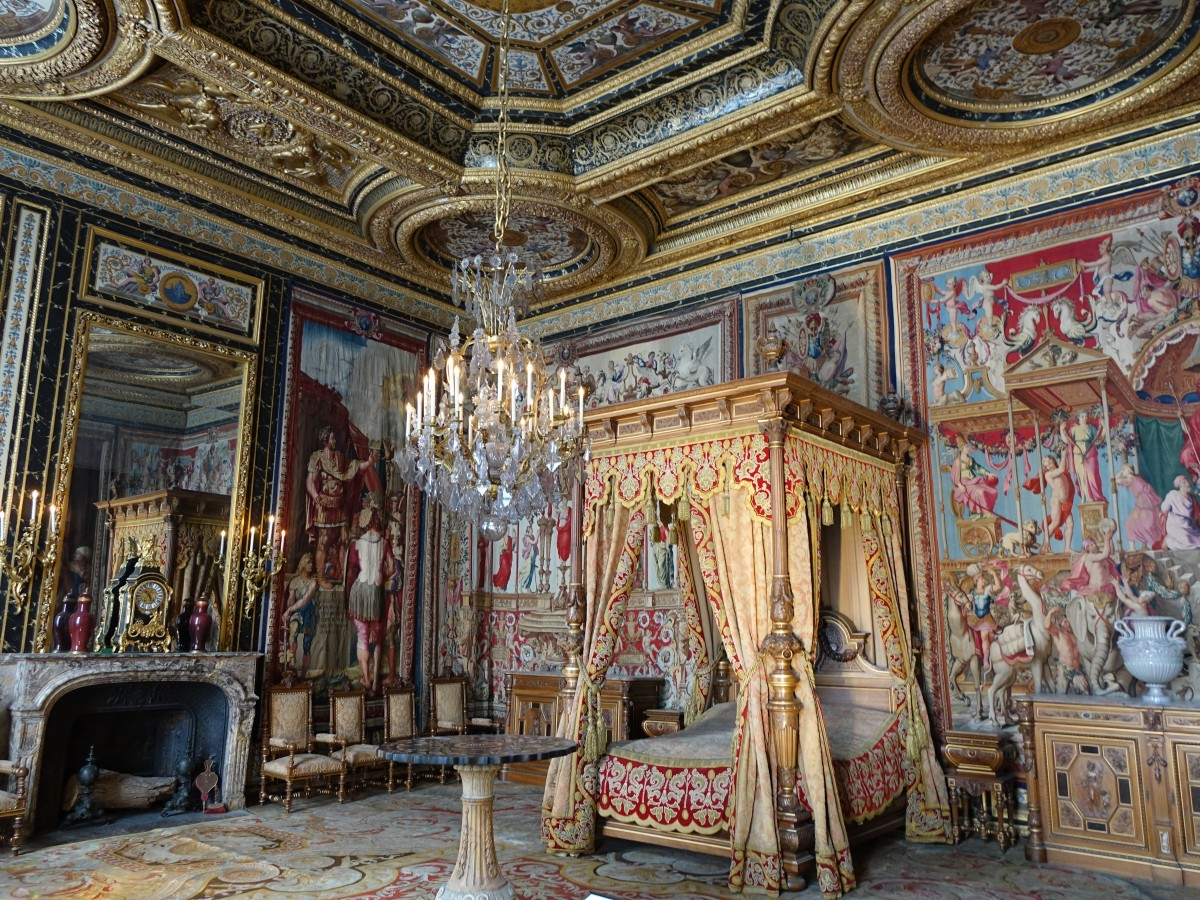 Königl. Schlafzimmer im Schloss Fontainebleau (19.07.2015) - Staedte ...