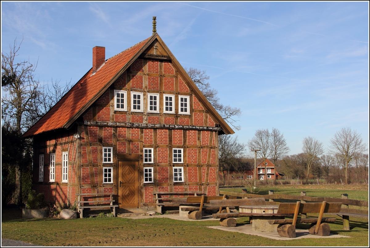 Petershagen neben der me linger m hle steht dieser alte for Fachwerkbauten deutschland