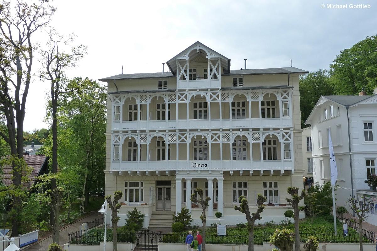 Villa vineta eines der h user der b derarchitektur auf for Wilhelmstrasse sellin