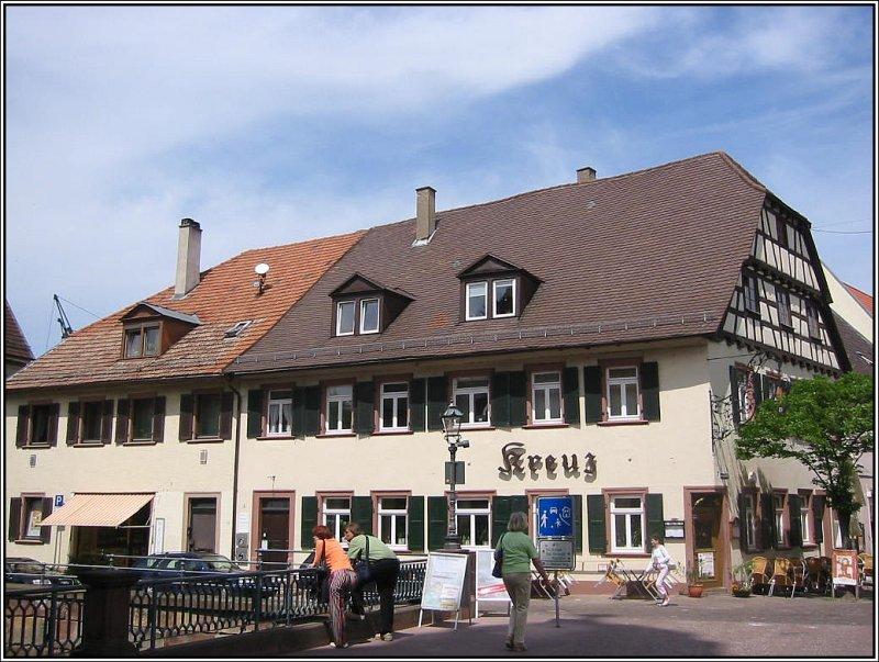 Ein Gasthaus In Der Innenstadt Von Ettlingen Aufgenommen