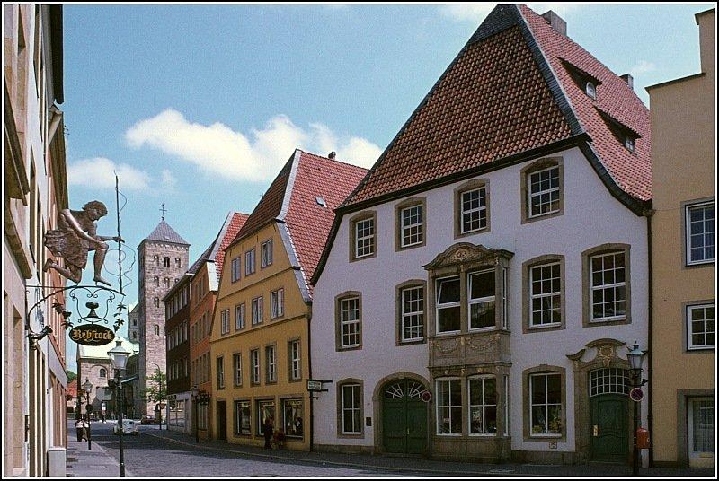 Markt, Marktplatz von Osnabrück, Osnabrueck in Sommerstimmung mit