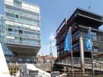 Hamburg am 15.5.2018: Hafencity, Gebäude am Sandtorhafen  /