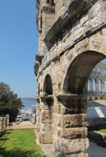 Amphitheater in Pula am 18. April 2013.