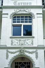 Ausschnitt von Villa Carmen in der Goethestraße, Ahlbeck.