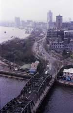 »The Bund« in Shanghai im April 1989 (Bild vom Dia).