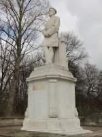 Moltke-Denkmal am Großen Stern in  Berlin-Tiergarten in der Nähe des Bismarck-Nationaldenkmal am 01.
