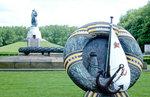 Sowjetisches Ehrenmal im Treptower Park an der Spree im Berliner Ortsteil Alt-Treptow.