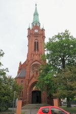 Bernau bei Berlin, Katholische  Herz Jesu Kirche am 01.
